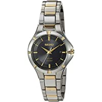 Seiko Women's Japanese-Quartz Watch with Stainless-Steel Strap, Two Tone, 7 (Model: SUT316)
