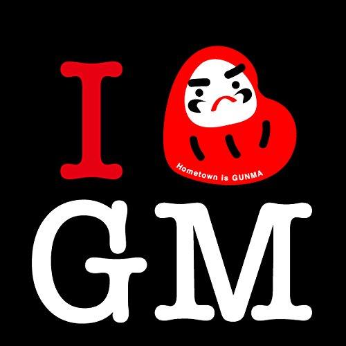故郷Tシャツ I LOVE 群馬 「Hometown is GUNMA」だるま BLK Mサイズ