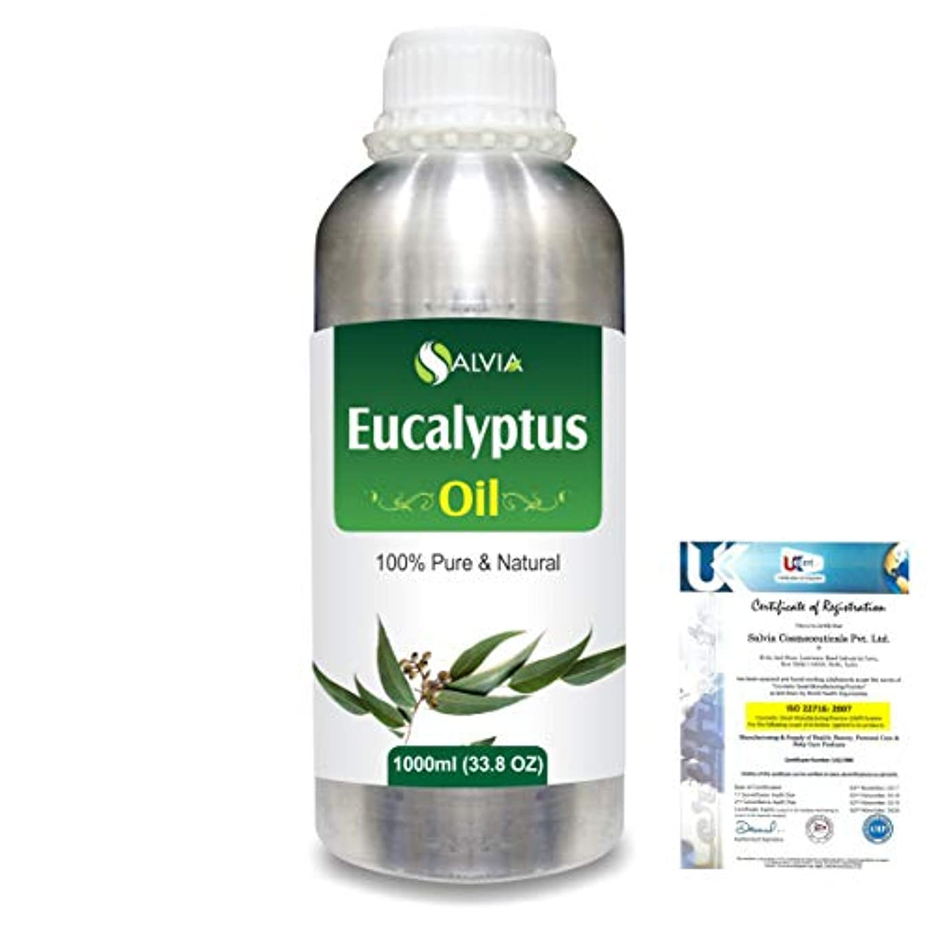 歌季節鳴らすEucalyptus (Eucalyptus Globulus) 100% Natural Pure Essential Oil 1000ml/33.8fl.oz.
