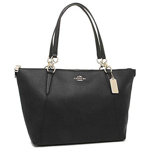 [해외]코치 가방 아울렛 여성 COACH F57526 IMBLK 크로스 그레인 가죽 아바 토트 토트 백 블랙 [병행 수입품]/Coach bag Outlet Women`s COACH F57526 IMBLK Cross grain leather Avatot tote bag Black [Parallel import goods]