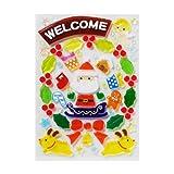 【クリスマス装飾デコレーション】ジェルギャラリー ウエルカムリース(1個)  / お楽しみグッズ(紙風船)付きセット
