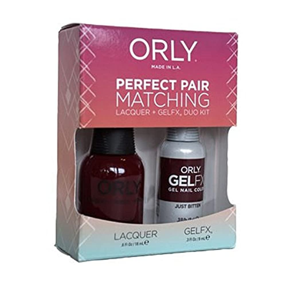 全体接ぎ木高いOrly - Perfect Pair Matching Lacquer+Gel FX Kit - Just Bitten - 0.6 oz / 0.3 oz