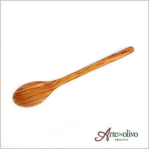 [Arteinolivo] オリーブウッドのスープスプーン(23cm)