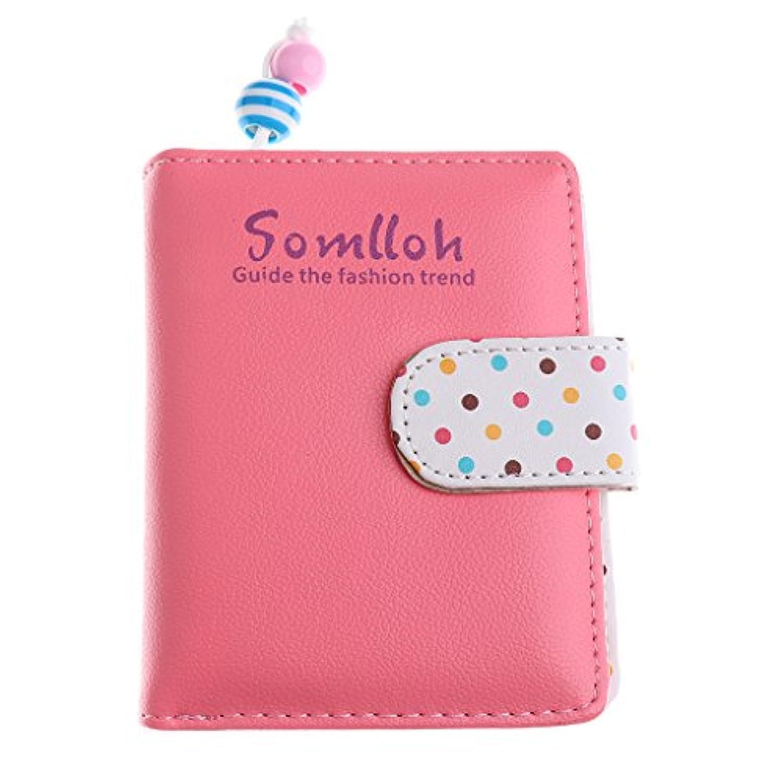 Fenteer 可愛い 女性 女の子 財布 クラッチ コイン カード ホルダー 財布 ハンドバッグ ドット  全6色