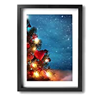 景色 クリスマスツリー30*40cm ファッション鮮やかキャンバス絵画背景絵画