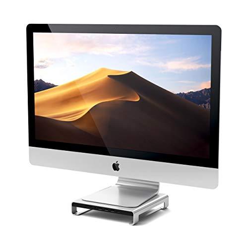Satechi Type-C アルミニウム iMac スタンド USB-Cデータ USB 3.0 Micro/SDカードスロット 音声ジャック (iMac Pro, 2017 iMac対応) (シルバー)