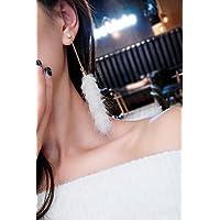 GenericセクシーDongkuanミンクイヤリングレディースガールズレディ韓国語気質ロングセクションのタッセルイヤリングはめ込み耳飾りDangler PlushファーボールイヤリングスーパーCents