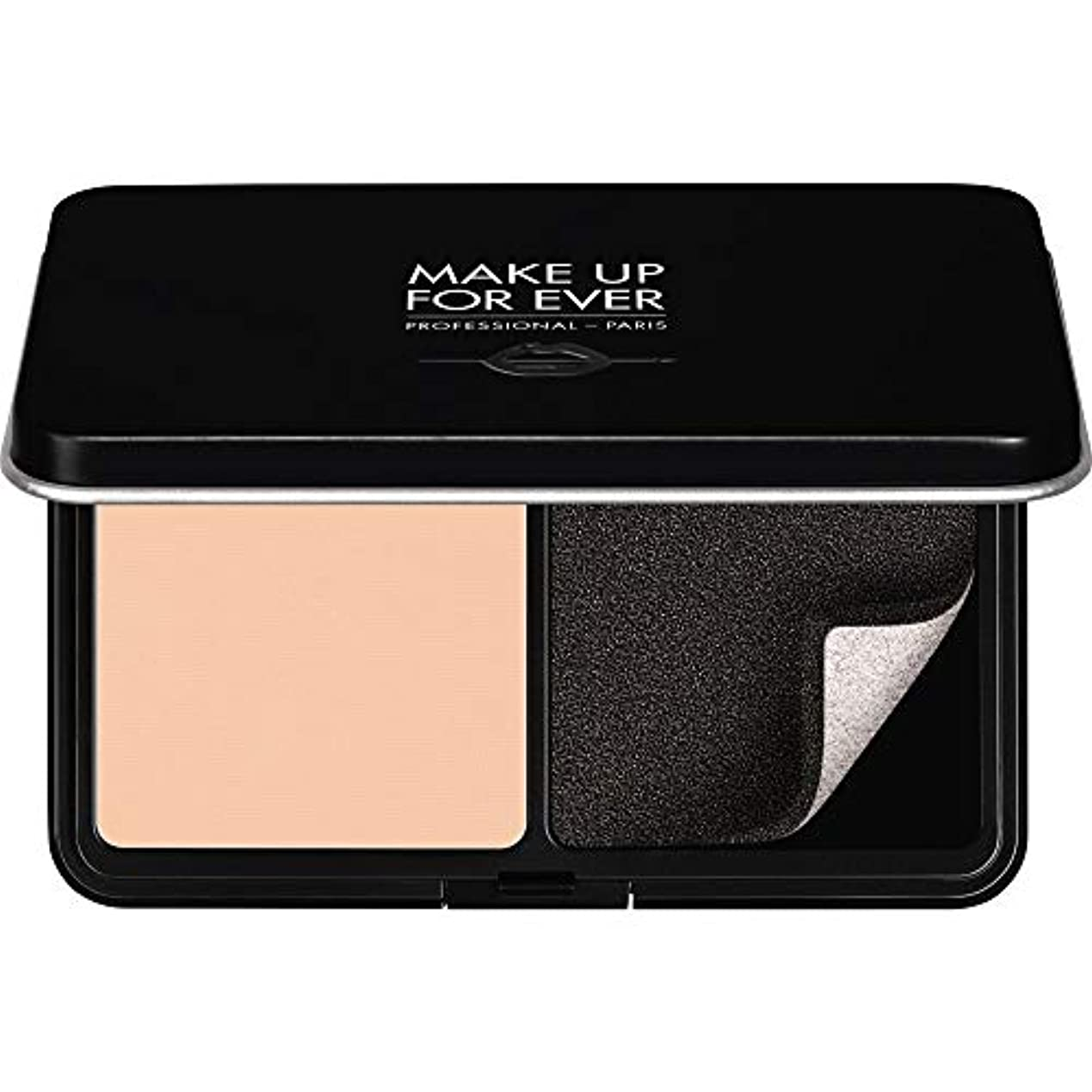 後ろ、背後、背面(部ピボットカバレッジ[MAKE UP FOR EVER ] パウダーファンデーション11GののR210をぼかし、これまでマットベルベットの肌を補う - ピンクアラバスター - MAKE UP FOR EVER Matte Velvet Skin...