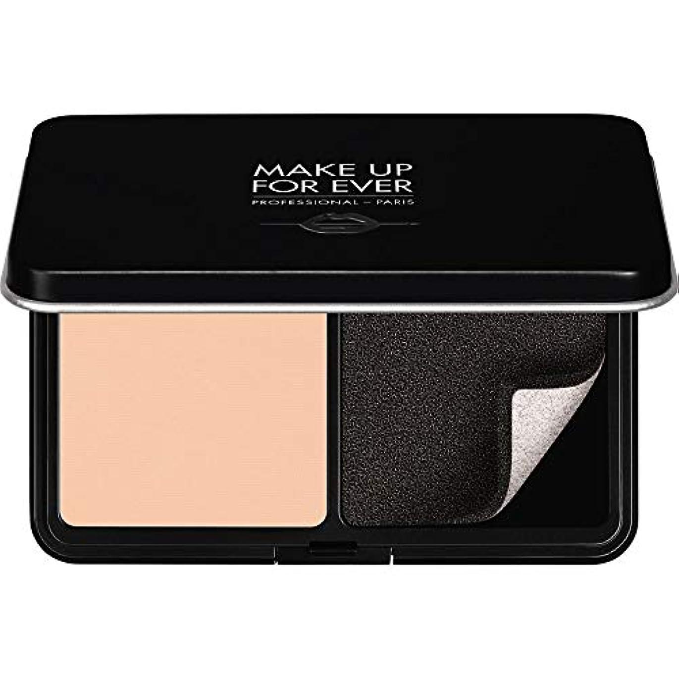 美徳のヒープ自由[MAKE UP FOR EVER ] パウダーファンデーション11GののR210をぼかし、これまでマットベルベットの肌を補う - ピンクアラバスター - MAKE UP FOR EVER Matte Velvet Skin Blurring Powder Foundation 11g R210 - Pink Alabaster [並行輸入品]