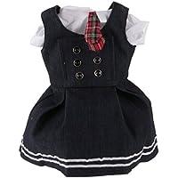 Lovoski かわいい  学生スタイル  サスペンダー ドレス 半袖シャツ セット  18インチ  アメリカンガールドール用