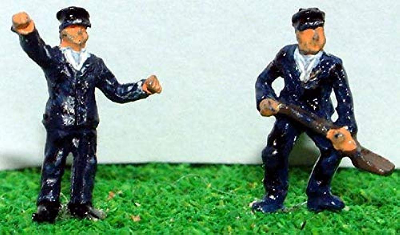 LangleyモデルLocoクルーNスケール金属モデルPeople Figures Painted a60p