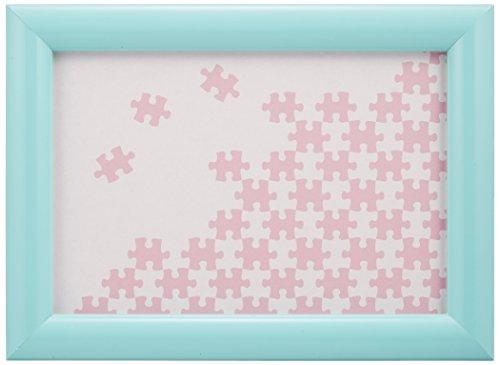 [해외]나무 퍼즐 프레임 자연 패널 라이트 블루 (10x14.7cm)/Wooden Puzzle Frame Natural Panel Light Blue (10 x 14.7 cm)