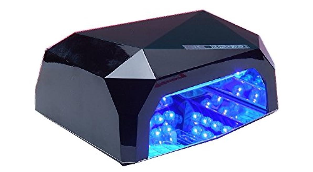 平行等々デコレーションネイルライトLED002 36W 黒  タイマー機能付き フットネイルにも