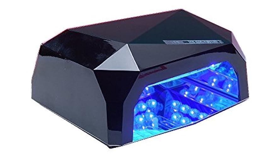 過剰ポテトゆりかごネイルライトLED002 36W 黒  タイマー機能付き フットネイルにも