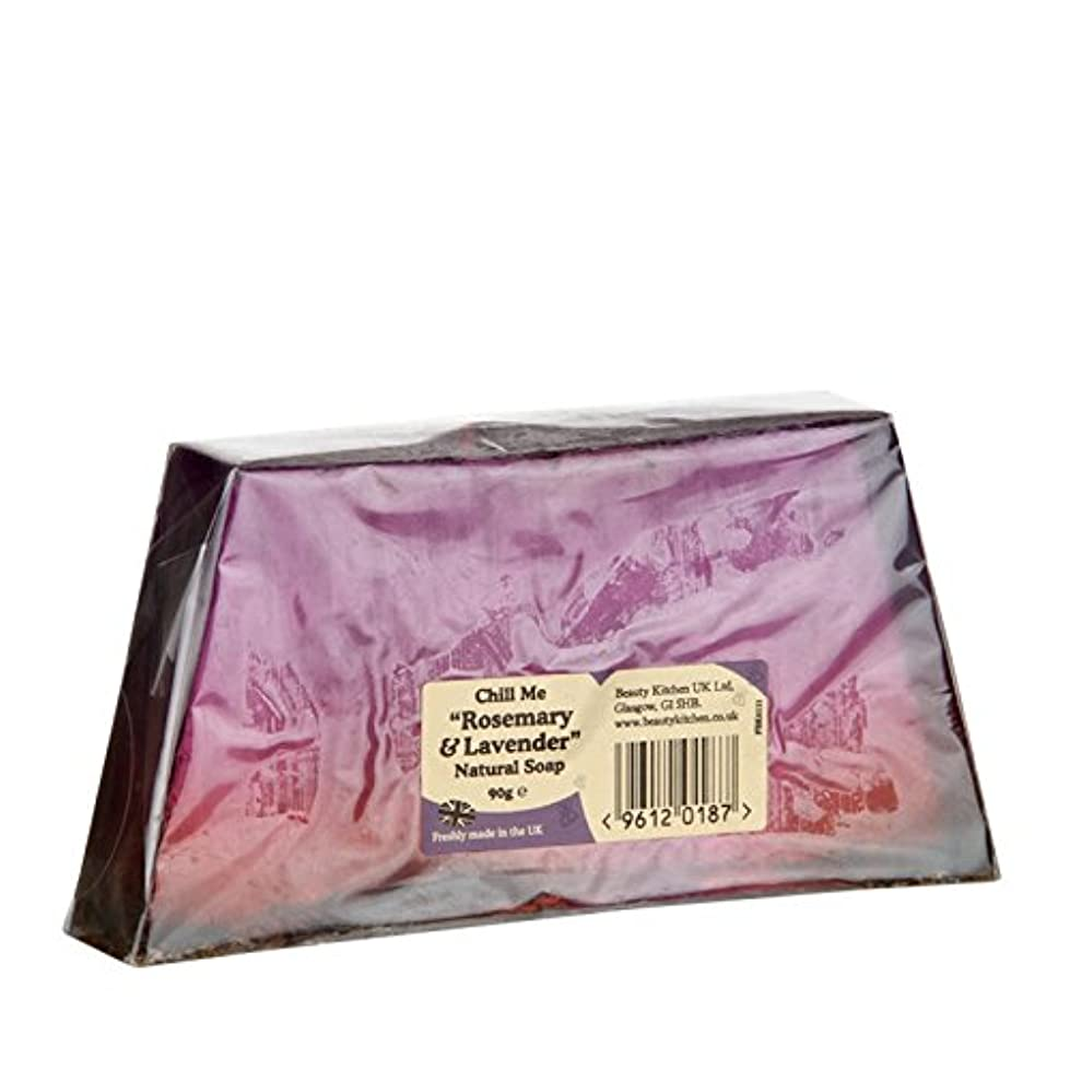 優しさドナー請負業者美しさのキッチンは、私はローズマリー&ラベンダーの天然石鹸90グラム冷やします - Beauty Kitchen Chill Me Rosemary & Lavender Natural Soap 90g (Beauty...