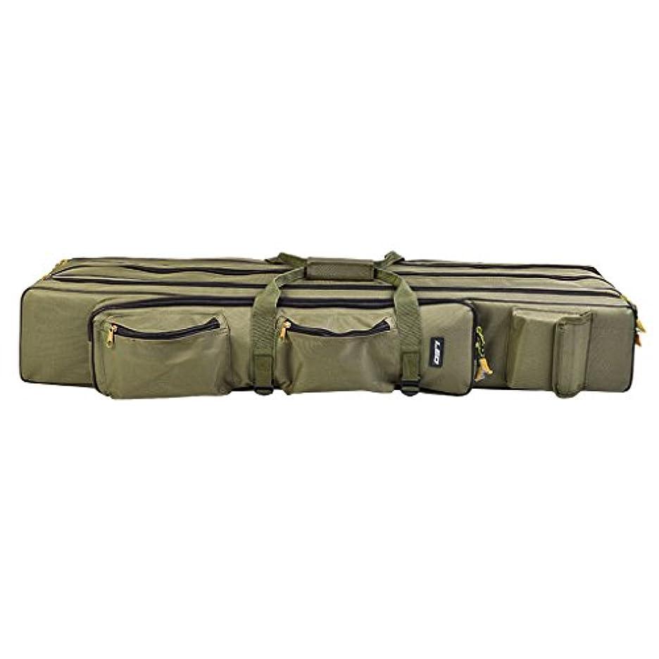 機械的効能ある光沢のあるDYNWAVE 釣り竿バッグ タックルバッグ 3層 折りたたみ 荷物 マルチポケット 持ち運び グリーン 3サイズ選べ