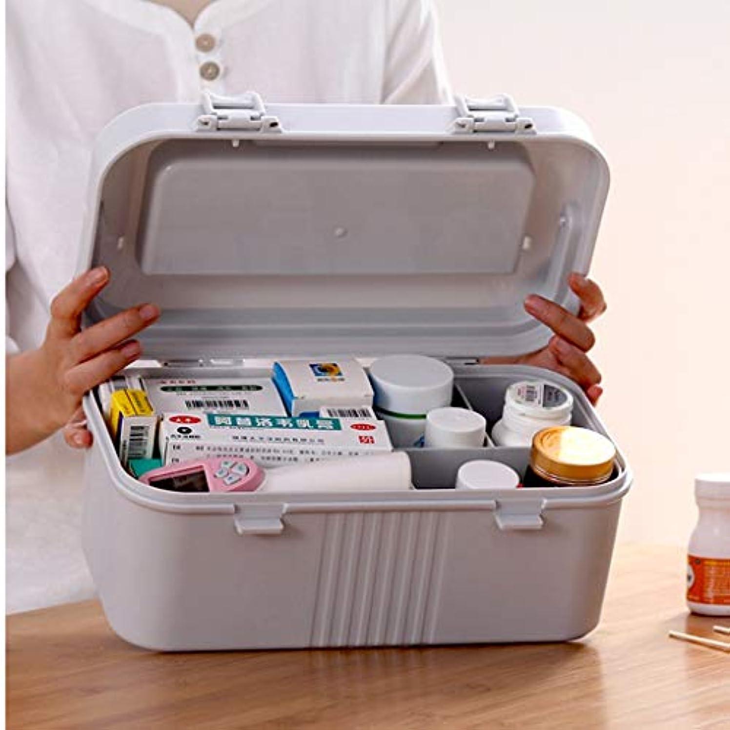携帯用緊急医療用キットの医学の袋観光工場の学校での使用に適した大容量の設計 SYFO (Color : Gray)
