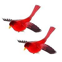 KESOTO 現実的な 鳥 工芸品 アーティフィシャルバード 置物 2個セット