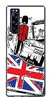 softbank エクスペリア5 901SO クリア ケース カバー 574 LONDON 素材クリア