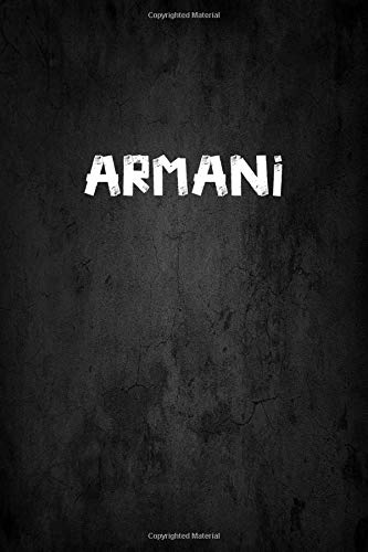 Armani: Personalized Journal   Custom Name Journal ? Personalized Name Journal - Journal for Boys - 6 x 9 Sized 110 Pages - Personalized Journal for Boys - Custom Name Notebook - Perfect Gift for Teachers Grandsons and Friends ? Blackboard