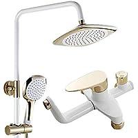 家族の浴室シャワーセット - ハイドロセラピー - ホテルシャワーシステム - 銅の蛇口レインシャワーヘッド、多機能