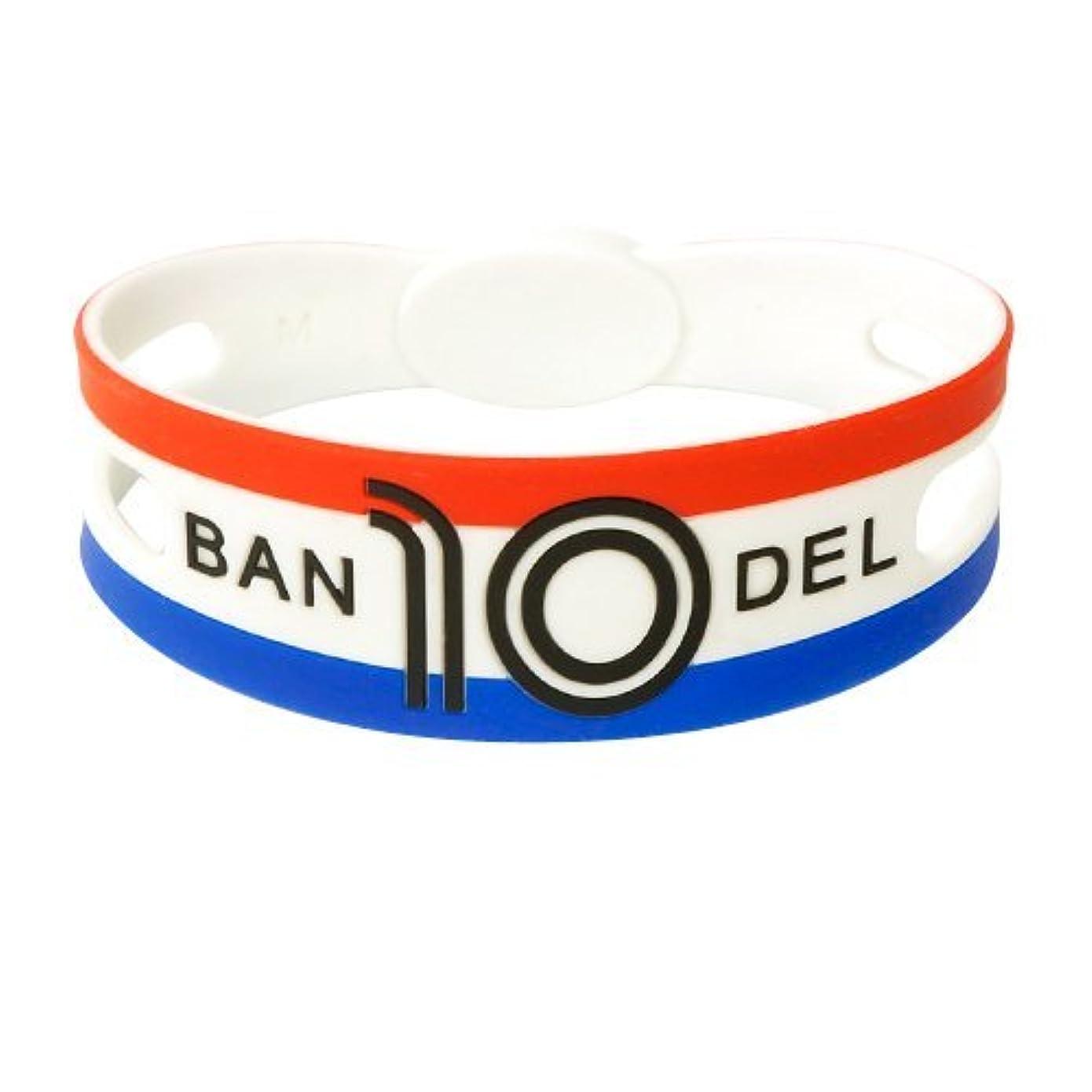 霧深いオール誘導バンデル(BANDEL) シリコン ブレスレット サッカー フランス代表カラー(レッド×ホワイト×ブルー) Lサイズ