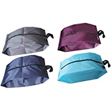 MISSLO Portable Nylon Travel Shoe Bags with Zipper Closure