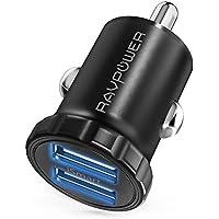 RAVPower カーチャージャー USB 車載充電器 (24W/2ポート/12V,24V) iPhone/iPad/Android/IQOS 等対応 RP-PC031(ブラック)