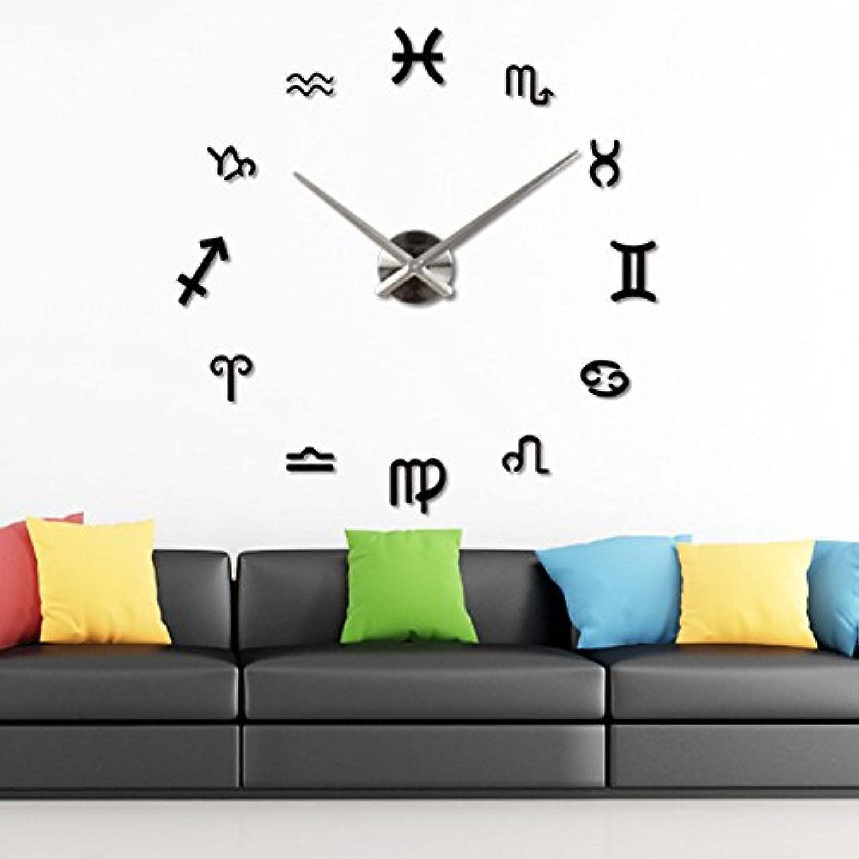SUND 壁時計 DIY 手作り ウォールクロック ウォールステッカー 壁掛け時計 壁飾り 自由自在に設置できます 英字付 部屋装飾 サイレント 簡単に模様変え 選べる3色 ブラック