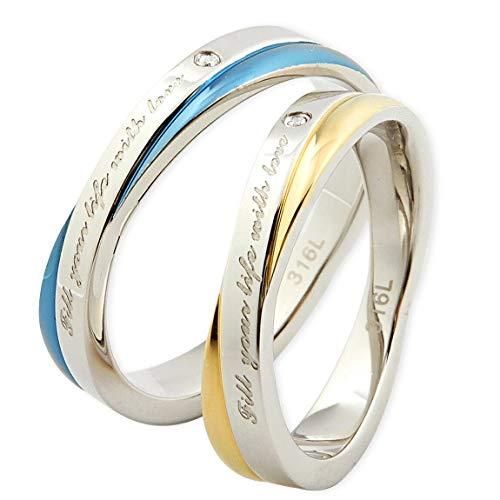 ペアリング レーザー ステンレス サージカルステンレス メッセージリング 記念日 誕生日 プレゼント ギフト 結婚指輪 マリッジ マリッジリング ペア リング ペアアクセサリー