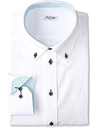 [アトリエサンロクゴ] ワイシャツ メンズ 長袖 Yシャツ イージーケア ノーマル スリム ボタンダウン ビジネス ドレス シャツ sun-ml-wd-1130