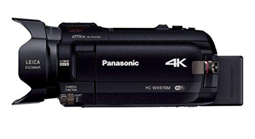 Panasonic4KビデオカメラWX970Mワイプ撮り軽量447gブラックHC-WX970M-K