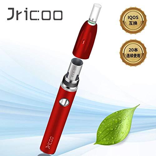 『IQOS アイコス 互換機 加熱式 電子タバコ USB充電式 急速充電 電子たばこ スターターキット 900mAh大容量 20本連続吸引 恒温加熱 清掃簡単 工場直販 (レッド)』のトップ画像