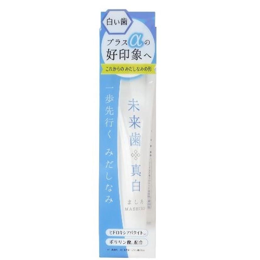 鎮痛剤悪魔加速する未来歯 真白 歯磨き粉 120g