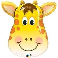 loonballoonキリン面ヘッドジャングル動物園サファリ誕生日パーティーベビーシャワーMylar Balloon by loonballoon
