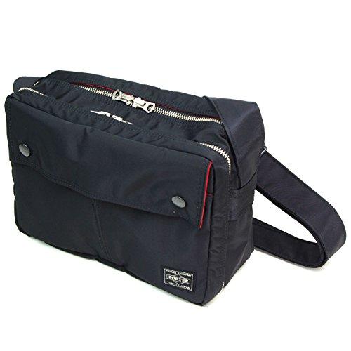 ポーターエルファイン(PORTER L-fine) PORTER×ILS共同企画 スクウェアショルダーバッグ Square Shoulder Bag ブラック(裏地:レッド) Black(Backing:Red)