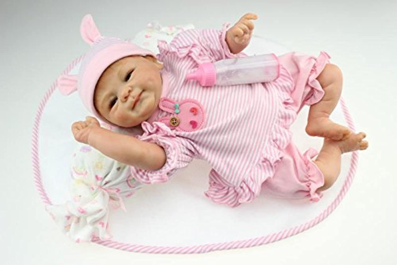 46cm Reborn Baby Doll Realistic Soft Silicone Reborn Baby Lifelike Baby Dolls
