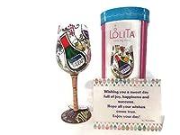 Lolita「My Therapy」ワイングラス 手描き - 女性のための最高の誕生日プレゼント 親友 生徒 楽しい誕生日プレゼント