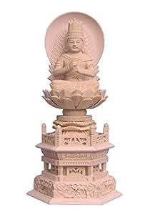 木彫仏像 大日如来座像(金剛界) 2.0寸日輪光背六角台桧木 5684