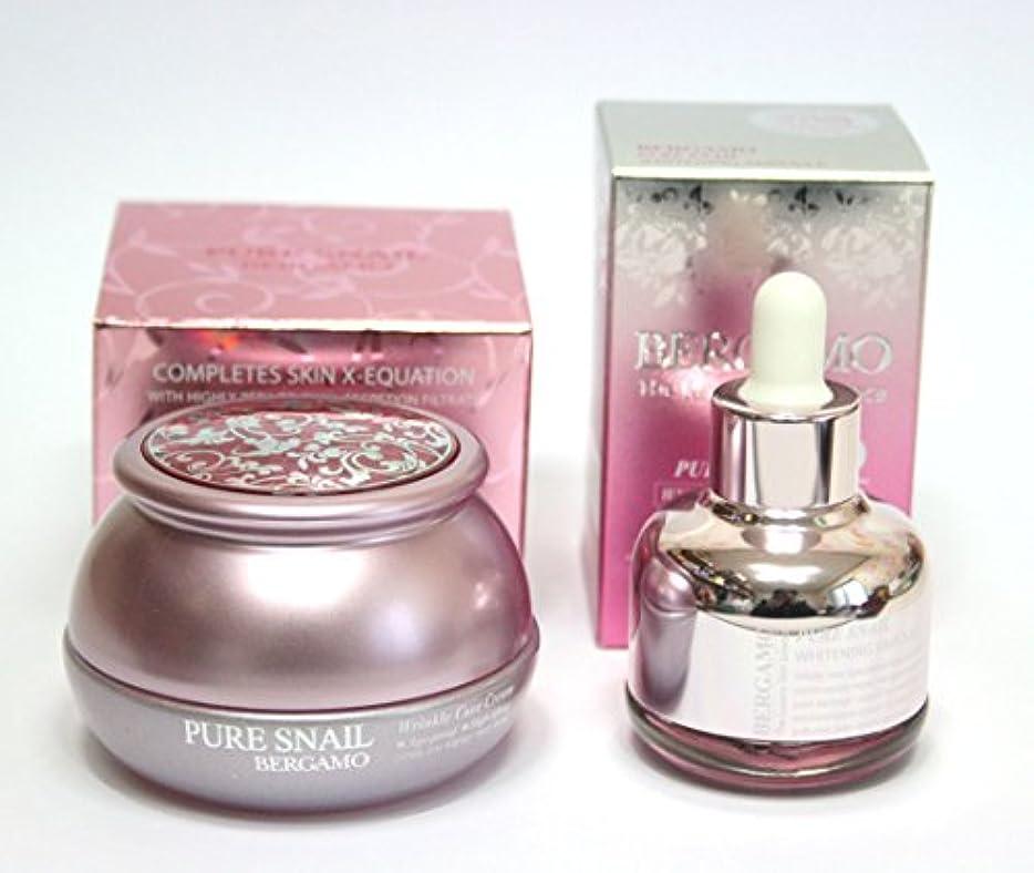 医療のうぬぼれ可聴[BERGAMO] ピュアカタツムリリンクルケアクリーム50g&ラグジュアリースキンサイエンスピュアカタツムリホワイトニングアンプル30ml / Pure Snail Wrinkle Care Cream 50g & The Luxury Skin Science Pure Snail Whitening Ampoule 30ml / 韓国化粧品 / Korean Cosmetics [並行輸入品]
