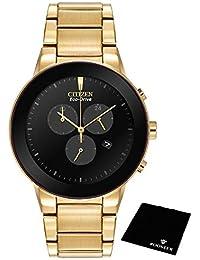 e62f65c4bca1 【セット】[シチズン] CITIZEN ソーラー充電式Eco-Drive クロノグラフ 腕時計