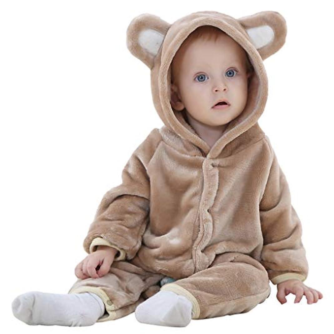 あそこ企業不潔ベビー 着ぐるみ ロンパース もこもこ カバーオール かわいい キッズ コスチューム 防寒着 男の子 女の子 出産祝い