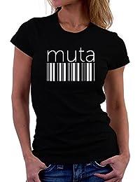 Muta barcode 女性の Tシャツ
