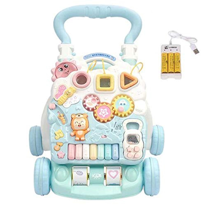 3歳以上 赤ちゃん ロールオーバー防止 子供 ウォーカー トロリー バッテリー 音楽 2スピード調整 スピード ハンドルを増やす 早期教育 脳力を発達させる 学習 おもちゃ