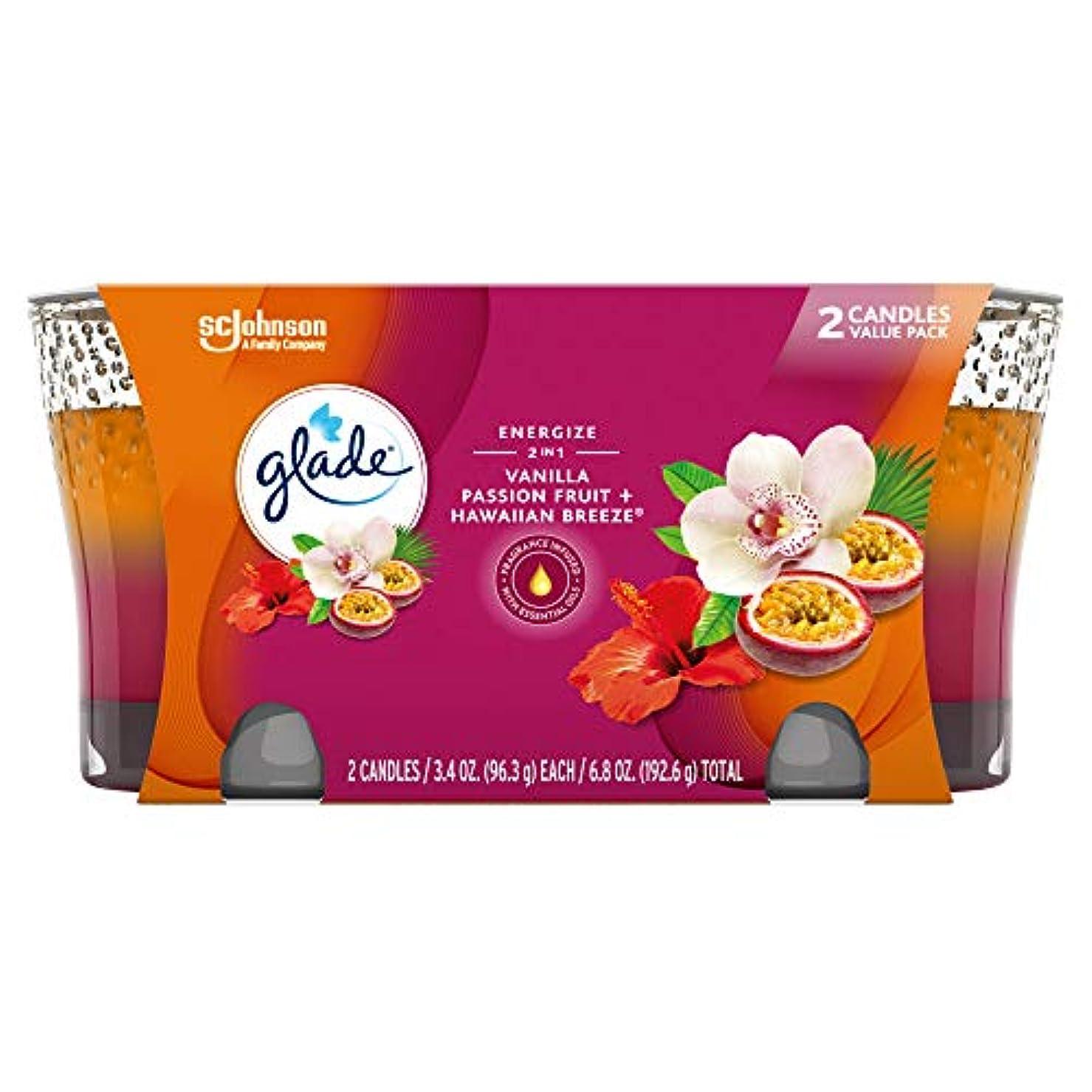 ゲスト馬鹿質量Glade 2in1 Jar Candle Air Freshener, Hawaiian Breeze and Vanilla Passion Fruit, 2 count, 6.8 Ounce by Glade