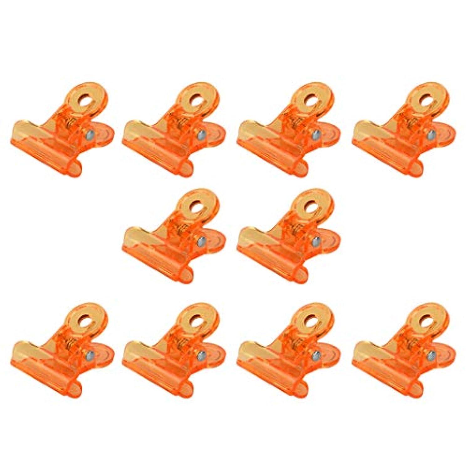 迷彩繁栄する欺SM SunniMix アクリル ネイルポリッシュリムーバー クリップ ネイルアート オフクリップ 10個セット 全4色 - オレンジ