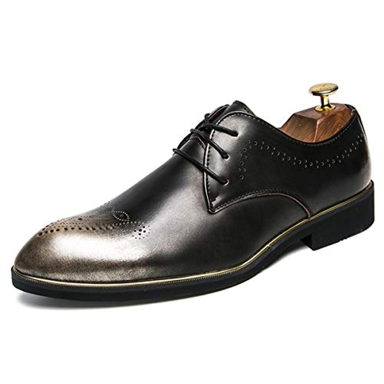 損傷素子効能[Poly] メンズシューズ レザーシューズ ドレスシューズ レースアップ ビジネスシューズ カジュアル靴 紳士靴 ハイヒール ストレートチップ G-E2079-11