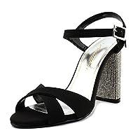 Caparros(カパロス) レディース 女性用 シューズ 靴 サンダル Hayley - Black/Clear Heel 6.5 B - Medium [並行輸入品]