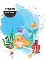 """Sketchbook Journal for Girls: Blank Drawing Book. Extra Large, 8.5""""x11"""" . For Designs Sketches Drawing Doodle Note Taking. Unlined Notebook Journal"""