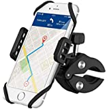 VicTsing Bike Phone Mount, Upgraded Cell Phone Holder for Bicycle Motorcycle Universal Silicone Bike Handlebar Mount for iPhone X/8 Plus/8/7 Plus/7, Samsung Galaxy S8 S7 S6, Huawei and GPS Devices